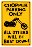 Chopper Parking Tin Sign