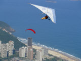 Hang-Glider Just after Take-Off from Pedra Bonita, Rio De Janeiro, Brazil, South America Photographic Print by Marco Simoni