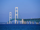 Mackinac Bridge, Mackinaw City, Michigan, USA Photographic Print by Michael Snell