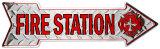 Fire Station Plaque en métal