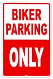 Biker Parking Tin Sign