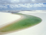 Small Lagoon and Sandy Dunes, Parque Nacional Dos Lencois Maranhenses, Brazil, South America Photographic Print by Marco Simoni