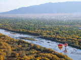 Hot Air Balloons, Albuquerque, New Mexico, USA Photographic Print by Michael Snell