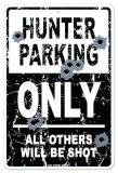 Hunter Parking Plaque en métal