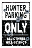 Hunter Parkeing Cartel de chapa