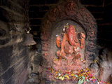 Shrine to the Hindu Elephant Headed God, Ganesh Photographic Print by Don Smith