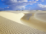 Sandy Dunes Near Lagoa Bonita (Beautiful Lagoon) at Parque Nacional Dos Lencois Maranhenses, Brazil Photographic Print by Marco Simoni
