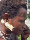 Detail of a Cane Ear Ornament Worn by a Hewa Woman, Papua New Guinea Photographic Print by Maureen Taylor