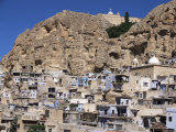 Christian Village of Maloula, Beneath Limestone Cliffs, Syria, Middle East Photographic Print by Tony Waltham