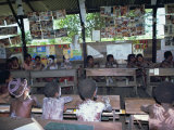 Children at School, Tambanum Village, Sepik, Papua New Guinea Photographic Print by Maureen Taylor