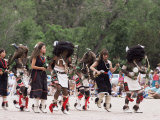 Buffalo Dance Performed by Indians from Laguna Pueblo on 4th July, Santa Fe, New Mexico, USA Photographic Print by Nedra Westwater