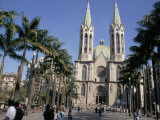 City Cathedral, Sao Paulo, Brazil, South America Photographic Print by Tony Waltham