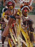 Mekeo Dancers with Facial Decoration, Port Moresby, Papua New Guinea Photographic Print by Maureen Taylor