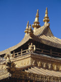 Golden Roof of Jokhang Temple, Main Centre of Tibetan Buddhism, Lhasa, Tibet, China Photographic Print by Tony Waltham