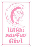 Little Surfer Girl Tin Sign