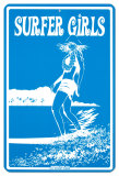 Surfer Girls Plaque en métal