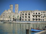 View Across Harbour to Duomo Vecchio, Molfetta, Puglia, Italy, Mediterranean Photographic Print by Sheila Terry