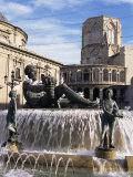 Plaza De La Virgen, Valencia, Spain Photographic Print by Sheila Terry