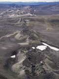 Fissure Vent with Spatter Cones, Laki Volcano, Iceland, Polar Regions Photographic Print by Tony Waltham