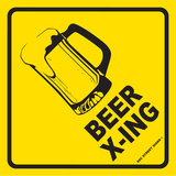 Beer Crossing Tin Sign