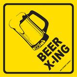 Beer X-ing Tin Sign