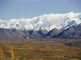 Snowline on Alaska Range, Denali National Park, Alaska, USA Photographic Print by Tony Waltham