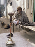Pipe Smoker, Delhi, India Photographic Print by John Henry Claude Wilson
