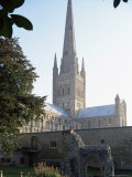 Norman Cathedral, Dating from 11th Century, with 15th Century Spire, Norwich Photographic Print by Nedra Westwater