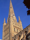 Norwich Cathedral, Tower Dating from 11th Century, with 15th Century Spire, Norfolk, England Photographic Print by Nedra Westwater