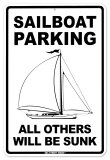 Sailboat Parking Placa de lata