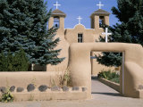Adobe Church of St. Francis of Assisi, Dating from 1812, Ranchos De Taos, New Mexico, USA Photographic Print by Nedra Westwater