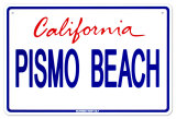 Pismo Beach Plaque en métal