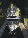Water Channel and Fountain in the Gardens of the Generalife, Alhambra, Andalucia Photographic Print by Sheila Terry
