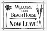 Beach House Tin Sign