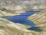 One of the Crater Lakes at Band-E-Amir Photographic Print by Jane Sweeney