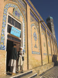 Men Talking Outside the Friday Mosque or Masjet-Ejam, Herat, Herat Province, Afghanistan Photographic Print by Jane Sweeney