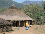 Traditional Village House in Bale Mountains, Southern Highlands, Ethiopia, Africa Photographic Print by Tony Waltham