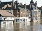Flooded Street in 2002, York, Yorkshire, England, United Kingdom Photographic Print by Tony Waltham