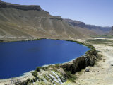 Band-I-Zulfiqar, the Main Lake at Band-E-Amir (Dam of the King), Afghanistan's First National Park Fotografiskt tryck av Jane Sweeney