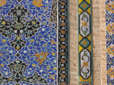 Detail of Tilework on the Friday Mosque or Masjet-Ejam, Herat, Afghanistan Photographic Print by Jane Sweeney