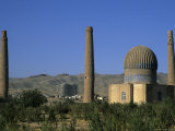 Gaur Shad 's Mausoleum, Part of the Mousallah Complex, Herat, Afghanistan Photographic Print by Jane Sweeney