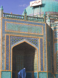Pilgrim at the Shrine of Hazrat Ali, Mazar-I-Sharif, Afghanistan Photographic Print by Jane Sweeney