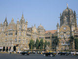 Chhatrapati Shivaji Terminus Railway Station, Unesco World Heritage Site, Mumbai Photographic Print by Tony Waltham