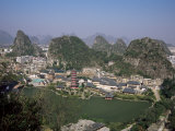 Limestone Towers in Fenglin Karst, Norther Suburbs of Guilin City, Guilin, Guangxi, China Photographic Print by Tony Waltham