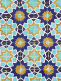 Tilework Detail, Who was Assassinated in 661, Balkh Province, Afghanistan Photographic Print by Jane Sweeney