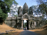 North Gate, Angkor Thom, Angkor, Unesco World Heritage Site, Siem Reap, Cambodia Photographic Print by Jane Sweeney