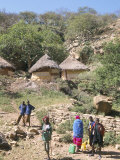 Traditional Village Houses in Village of Sof Omar, Southern Highlands, Ethiopia, Africa Photographic Print by Tony Waltham