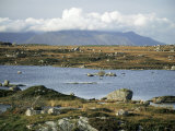 The Twelve Pins Mountains Rise Above Loughans on the Lowland, Connemara, County Galway, Eire Photographic Print by Tony Waltham