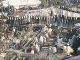 Municipal Laundry, Mahalaxmi Dhobi Ghat, Mumbai (Bombay), India Photographic Print by Tony Waltham