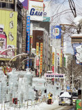 Ice Sculptures in Susukino Street, Yuki Matsuri (Snow Festival), Sapporo, Hokkaido, Japan Photographic Print by Tony Waltham